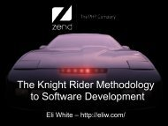 The Knight Rider Methodology to Software Development - Eli White