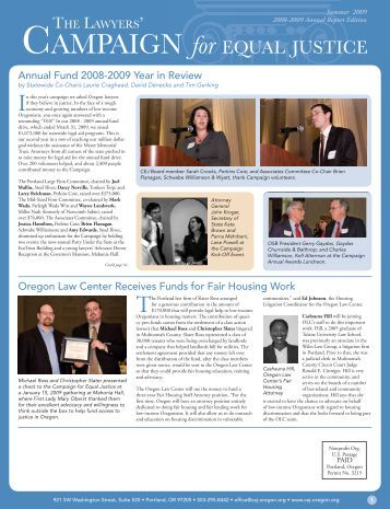 2008 Annual Report and - Campaign for Equal Justice