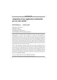Adaptation d'une application multimédia par un code ... - Grenoble