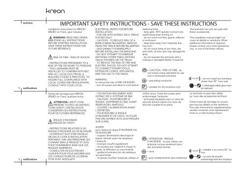 IMPORTANT SAFETY INSTRUCTIONS - SAVE THESE ... - Kreon