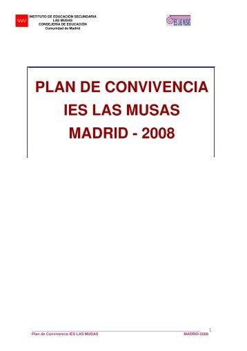 Plan de Convivencia del IES Las Musas