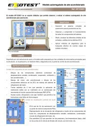 The MT-C5001 model is a teaching support that allows ... - Exxotest