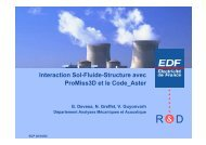 Interaction Sol-Fluide-Structure avec ProMiss3D et le Code_Aster
