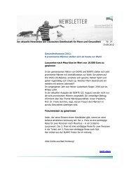 Traumreisen zu gewinnen - Deutsche Gesellschaft für Mann und ...