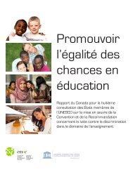 Promouvoir l'égalité des chances en éducation – Rapport du ...