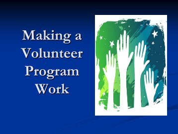 Making a Volunteer Program Work - Utah State Archives