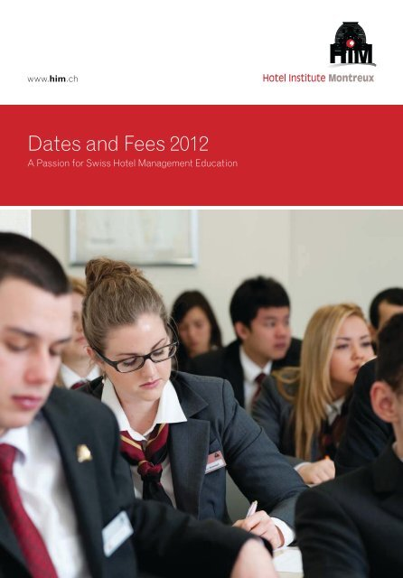 Dates and Fees 2012