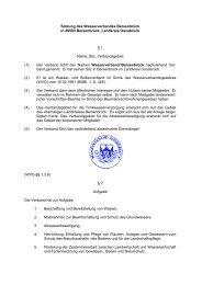 Die Satzung des Wasserverbandes - Wasserverband Bersenbrück