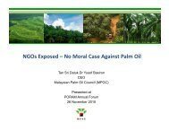 NGOs Exposed – No Moral Case Against Palm Oil - MPOC