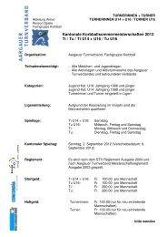 Kantonale Korbballsommermeisterschaften 2012 Ti / Tu / Ti U14 + ...