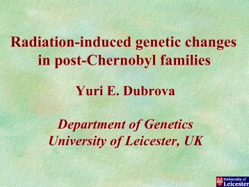 Radiation-induced genetic changes in post-Chernobyl families ...