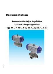 Dokumentation - Pneumatisch betätigte Kugelhähne - 2/2- und 3 ...