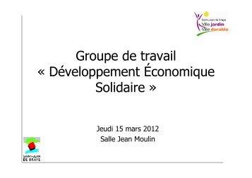 Développement éco solidaire : présentation 15/03/2012 (pdf