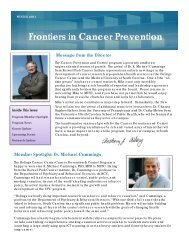 Frontiers in Cancer Prevention - Hollings Cancer Center - Medical ...