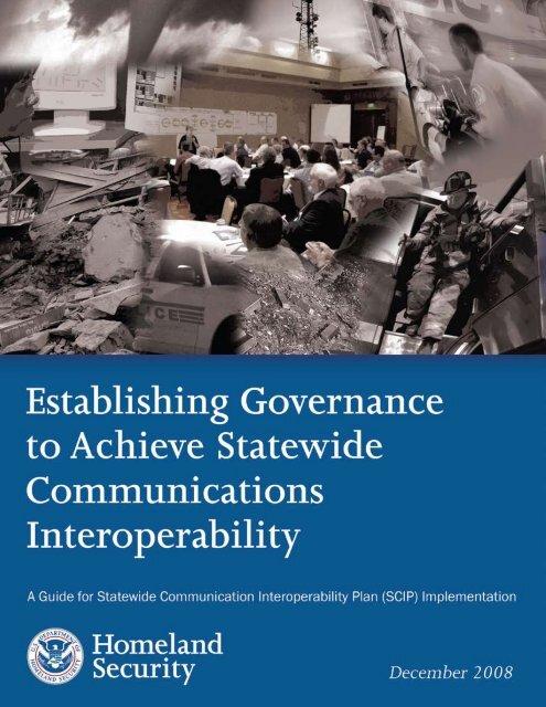 Establishing Governance to Achieve Statewide ... - SafeCom