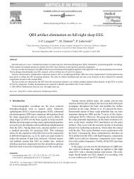QRS artifact elimination on full night sleep EEG - Université de Mons