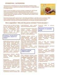 Epigenetiikka - nutrigenomia