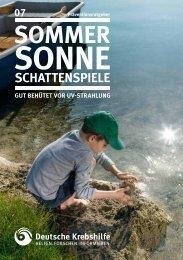 Sommer – Sonne – Schattenspiele - Deutsche Krebshilfe eV
