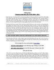 Thông báo Chương trình Học giả (VSP) 2010 - 2011