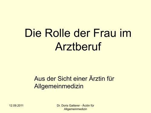 Referat von Dr.in Gatterer - Ordinemedici.bz.it