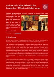 Cathars and Cathar Beliefs in the Languedoc - Official ... - Dhaxem