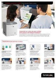 Familia Lexmark C748 Impresoras láser color