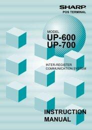 UP-600/700 Operation-Manual Online-Manual GB - Sharp