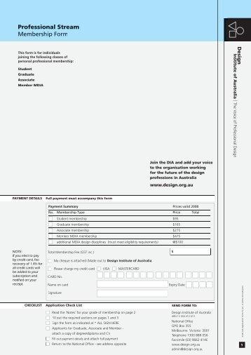 DIA Application Form PS A4.indd - Design Institute of Australia