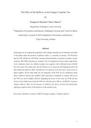 The Effect of the Spillover on the Granger Causality Test by ...