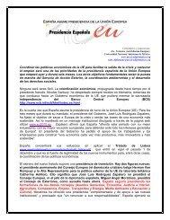 España asume presidencia de la Unión Europea - México Diplomático