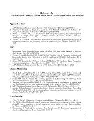 References for Joslin Diabetes Center & Joslin Clinic Clinical ...
