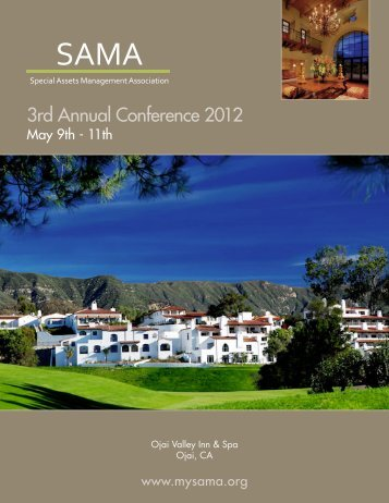 SAMA Conference Booklet - Berkeley Research Group