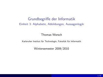 Folien - Grundbegriffe der Informatik (Wintersemester 2009/2010)