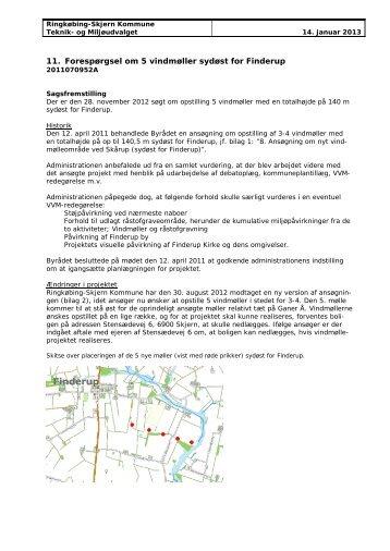 Forespørgsel om 5 vindmøller sydøst for Finderup.pdf - Ringkøbing ...