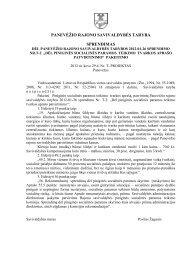 Dėl Panevėžio rajono savivaldybės tarybos