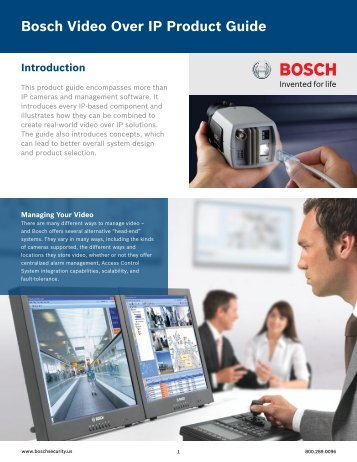 Bosch Video Over IP Product Guide 2011 - Use-IP