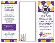16th annual athletic golf tournament - Lancaster Catholic High School