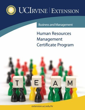 Human Resources Management Certificate Program - UC Irvine ...