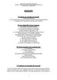presentation de l'association culturelle lyon part-dieu - Comprendre ...