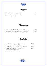 Suppen Vorspeisen Salatteller - Gasthaus Rampl