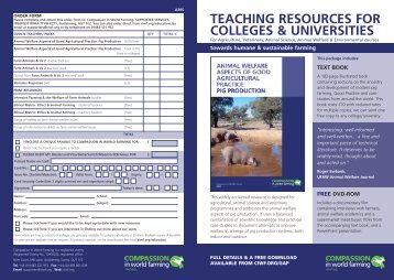 Resource Leaflet Universities - Compassion in World Farming