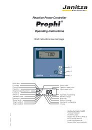 Reactive Power Controller Operating instructions