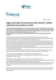 Tisková zpráva - Rigips