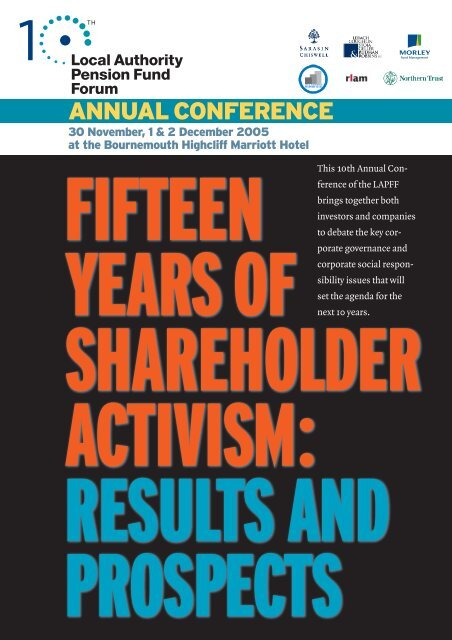 Fifteen years of shareholder activism - LAPFF