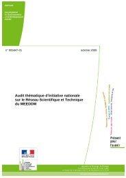 Audit thématique d'initiative nationale sur le Réseau ... - cgedd