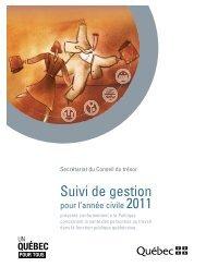 Suivi de gestion pour l'année civile 2011 (2,55 Mo) - Secrétariat du ...