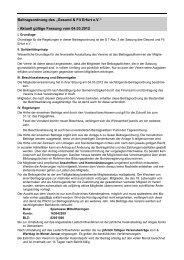 """Beitragsordnung des """"Gesund & Fit Erfurt e.V."""" - Aktuell gültige ..."""