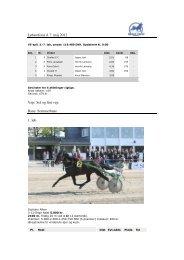 Løbsreferat d. 7. maj 2012 Vejr: Sol og fint vejr Bane ... - Skive Trav