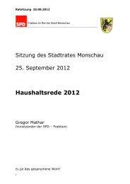 Sehr geehrte Frau Bürgermeisterin Ritter, - SPD Ortsverein Monschau
