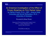 An Empirical Investigation of the Effect of Privacy Breaches on Firm ...